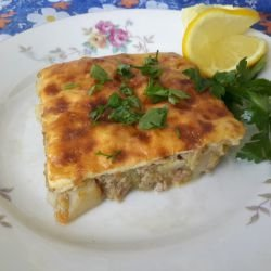 Moussaka with Mince, Zucchini and Potatoes