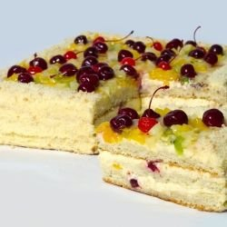 Homemade Cake with Fruits and Starch