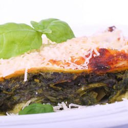 Oven-Baked Spinach with Eggs