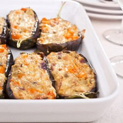 Stuffed Eggplants in the Oven