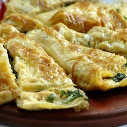 Omelette with Ham and Spinach