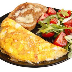 Omelette with Eggs and Mashed Potatoes