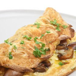 Omelette with Mushrooms and Curry