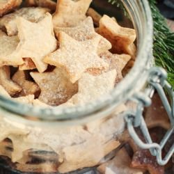 Homemade Walnut Stars