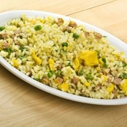 Chinese Rice with Ham and Garlic