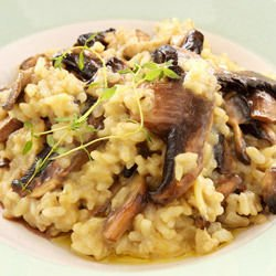 Boletus Mushrooms with Rice