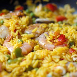 Fried Rice with Shrimp and Peas