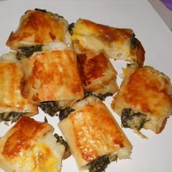 Rice Phyllo Pastries with Dock