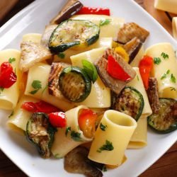 Macaroni with Vegetables and Aromatic Herbs