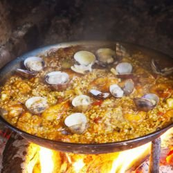 Paella with Brown Rice