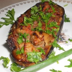 Pork Kebab in Eggplants
