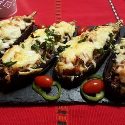Stuffed Eggplants with Mince