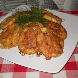 Breaded Zucchini with Mince