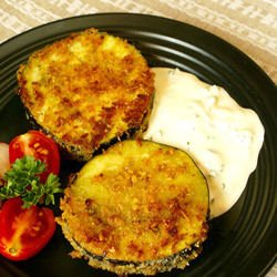Crumbed Eggplants with Cream Sauce
