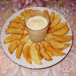 French Fries with Caesar Sauce