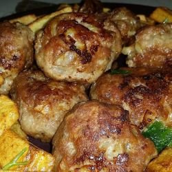 Juicy Fried Meatballs