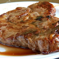 Pork Steaks with Honey and Soya Sauce