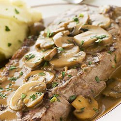 Pork Steaks with Mushrooms in Foil