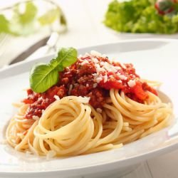 Lean Spaghetti with Tomato Sauce