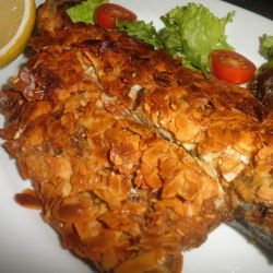 Trout with Almond Crust