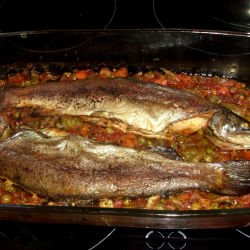 Oven-Baked Trout with Veggies