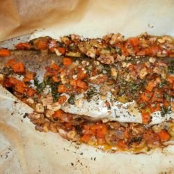 Stuffed Trout in Baking Paper