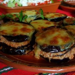 Eggplants with Mince