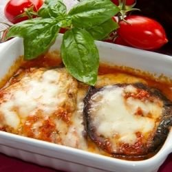 Eggplant with Minced Meat and Tomato Sauce