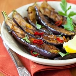 Roasted Eggplant with Garlic