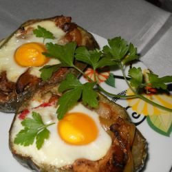 Eggplant Ratatouille with Eggs