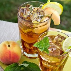 Italian Lemonade with Peaches and Mint