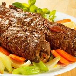 Beef rolled with mozzarella