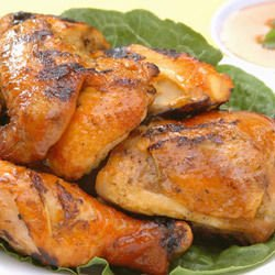 Grilled Chicken Legs in Foil