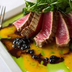 Duck Magret with Blueberry Sauce