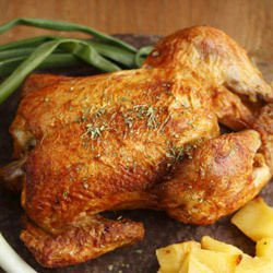 Roast Chicken with a Garlic Crust
