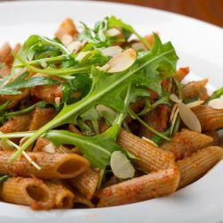 Penne with Tomatoes and Arugula
