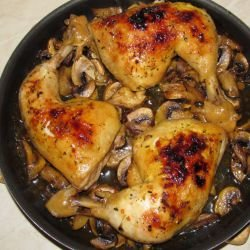 Chicken Legs on Mushrooms
