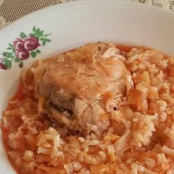 Sauerkraut with Chicken and Rice