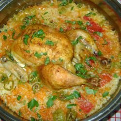 The Tastiest Chicken with Rice and Vegetables