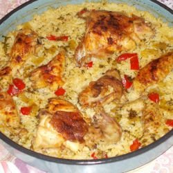 Country-Style Chicken with Rice and Peppers