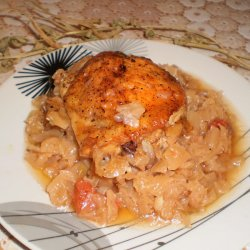Chicken with Cabbage in the Oven