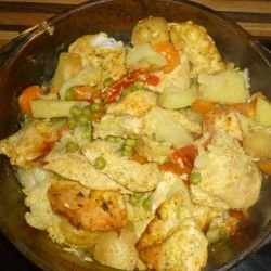 Oven-Made Chicken with Vegetables