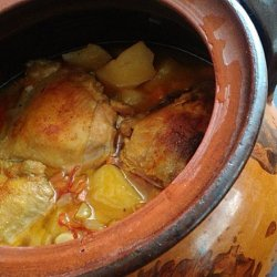 Exquisite Chicken Legs with Vegetables in a Clay Pot