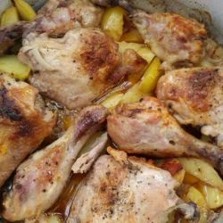 Greek-Style Chicken with Potatoes
