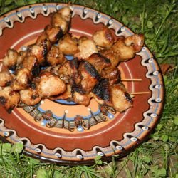 Grilled Chicken Butts with Soy Sauce