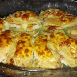 Baked Chicken Breasts with Peppers and Cheese