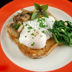 Poached Eggs on Mushrooms