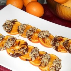 Caramelized Oranges with Walnuts and Chocolate
