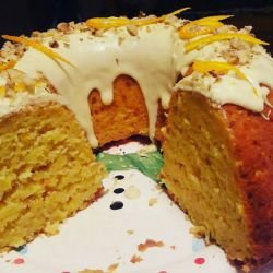 Orange Cake with White Chocolate Glaze