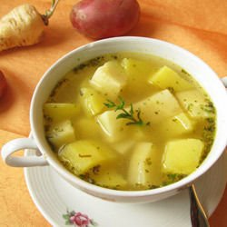 Potato Broth with Garlic